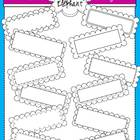 Black and White Rectangle Frames Clip Art