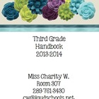 Black and White Theme Classroom Parent Handbook