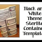 Black and White Theme Sterlite Container Templates