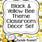 Black and Yellow Bee Theme Classroom Decor Set