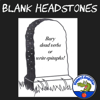 Blank Headstone Template for Writing Character Epitaphs