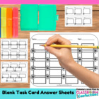 Blank Task Card Sheets {Turn My Games Into Task Cards}