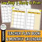Blank Teacher Plan Book Pages