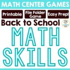 """Blast off to Math"" - 5 Centers to Use at the Beginning of"