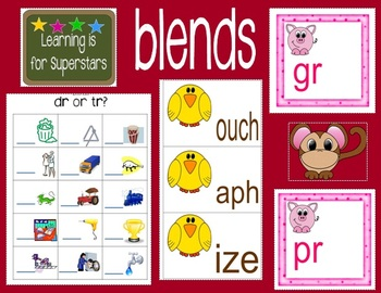 Blends Literacy Work Station & Activity Pages
