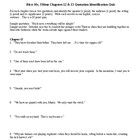 Bless Me, Ultima Chapters 12 & 13 Quotation ID Quiz & KEY