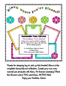 Bloomin' Freebie Frame and Writing Template