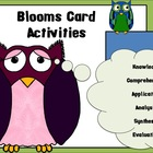 Blooms Owl-Themed Card Activities