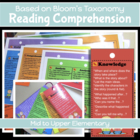 Bloom's Questions - Bookmarks or Fans