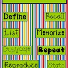Bloom's Taxonomy - Keywords for Kindergarten