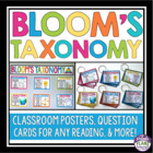 BLOOM'S TAXONOMY: Posters, Worksheets, & Printable Questio