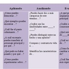 Blooms Taxonomy Questions in Spanish