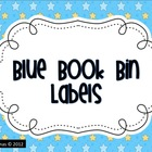 Blue Book Bin Labels