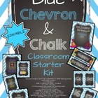 Blue Chevron & Chalk {Classroom Starter Kit} Back to Schoo