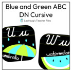Blue and Green Alphabet Line DN Cursive (The Perfect Match)