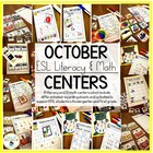 BoOctober Math and Literacy Centers & Activities {for Octo