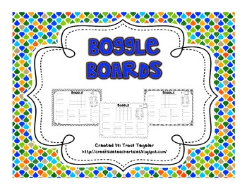 Boggle Board Recording Sheets