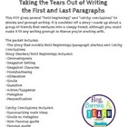 """Bold Beginnings:  Examples of Good """"Hooks"""" for Writing Essays"""