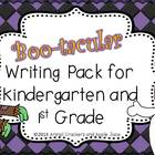 Boo-tacular Writing Pack for Kindergarten and 1st Grade Bu