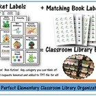 Classroom Library Labels & Matching Book Labels - NO MORE