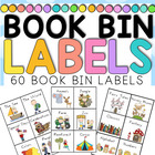 Book Bin Labels for the Classroom x 60 - 13 pages