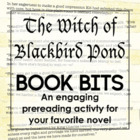 """Book Bits"": a Fun Pre-reading Activity for The Witch of B"