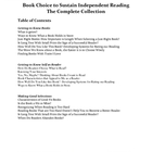 Book Choice to Sustain Independent Reading -- The Complete