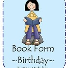 Book Form - Birthday