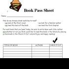 Book Pass Sheet