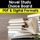 Book Report Choice Board (for any novel)