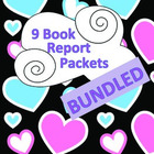 Book Report Packets - ALL 9 BUNDLED PDF