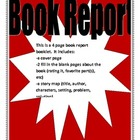 Book Report Template no. 4
