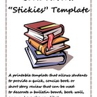 Book Review Stickies Template