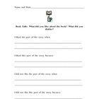 Book Talk Questionnaire