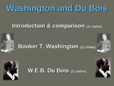 Booker T. Washington and W.E.B. Du Bois: visual, textual,