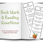 Bookmark with Reading Questions