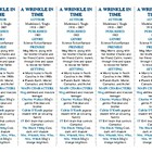 Bookmarks Plus: A Wrinkle in Time--Handy Little Reading Aid!