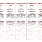 Bookmarks Plus: Atonement--A Handy Little Reading Aid!
