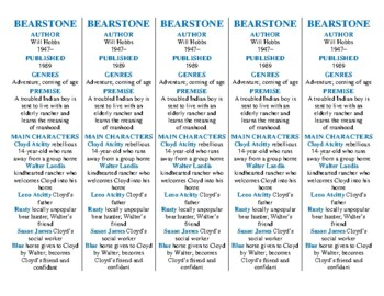Bookmarks Plus: Bearstone edition--A Handy Little Reading Aid!