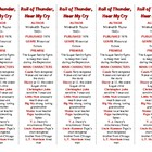 Bookmarks Plus: Roll of Thunder, Hear My Cry--A Handy Reading Aid