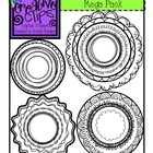 Border CIRCLES Mega Pack {Creative Clips Digital Clipart}