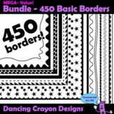 Borders / Frames: Basic Black Borders / Frames Mega-Bundle