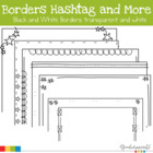 Borders Hashtag and More Black and White