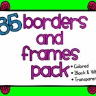 Borders and Frames HUGE Set - Commercial Use Okay!