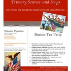 Boston Tea Party--Primary Sources and Songs