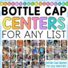 Bottle Cap Center Games for any Word List BUNDLE 30+ Games