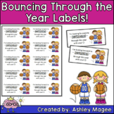 Bouncing through the year bouncy ball student gift Freebie
