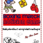 Boxing Match Addition Game! (Great Center or Workstation!)
