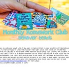Braggin' About Behavior Beads (Monthly Homework Club)