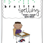 Braille Sight Words - Primer and Number Words